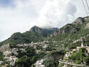The mountain range from Positano