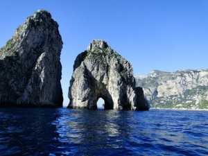 Cruising the waters to the island of Capri